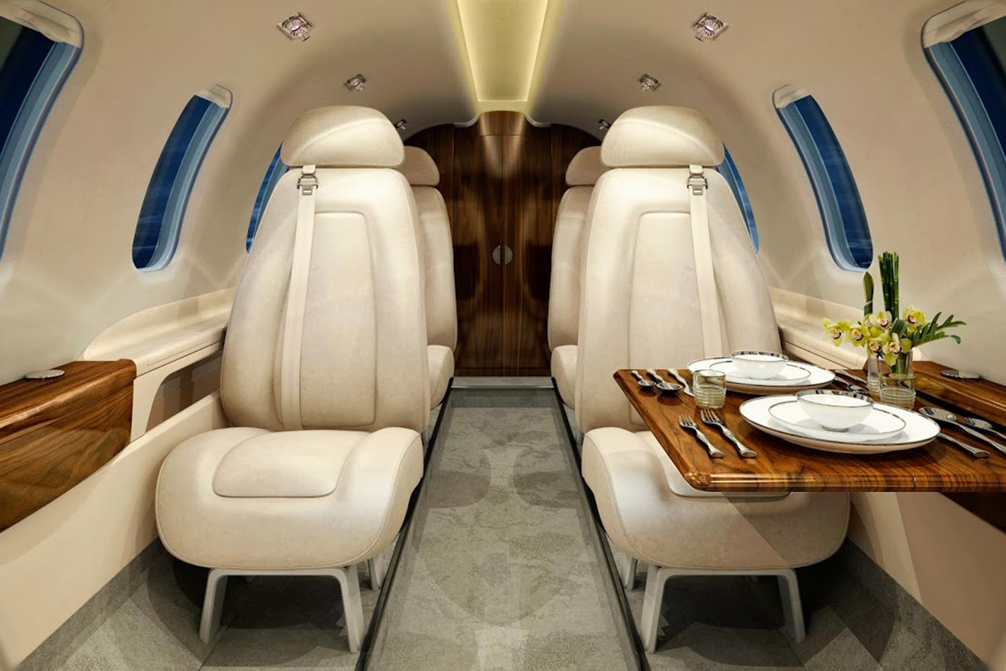 Private Light Jet Phenom 300 Interior