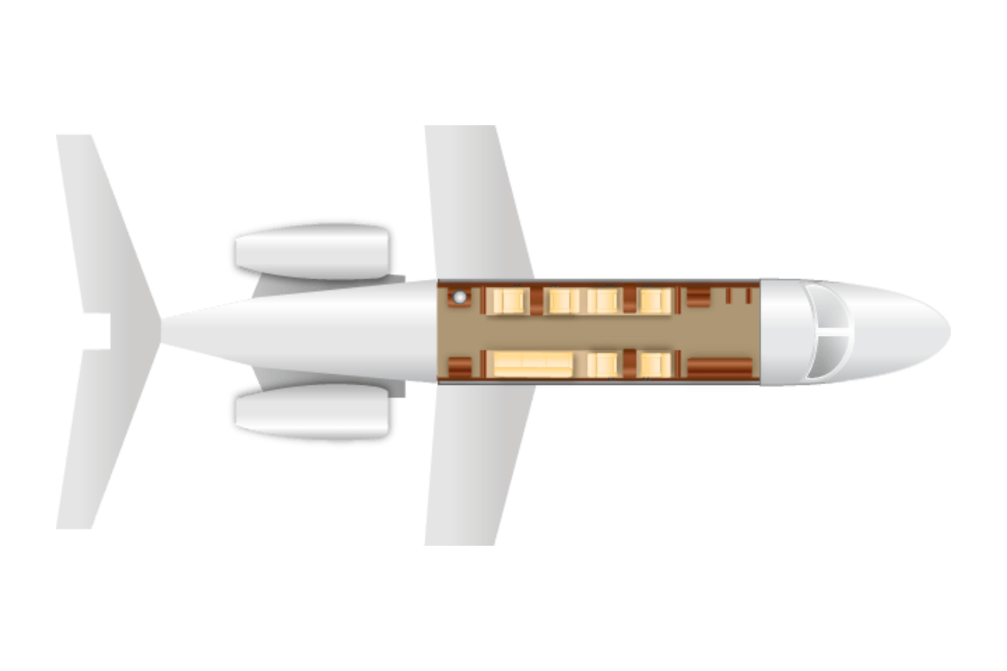 Private Heavy Jet Challenger 605 Floor Plan