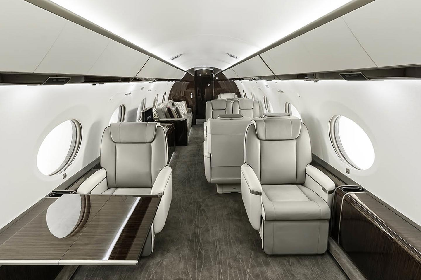 Private Heavy Jet (Long Range) Gulfstream 650 Interior