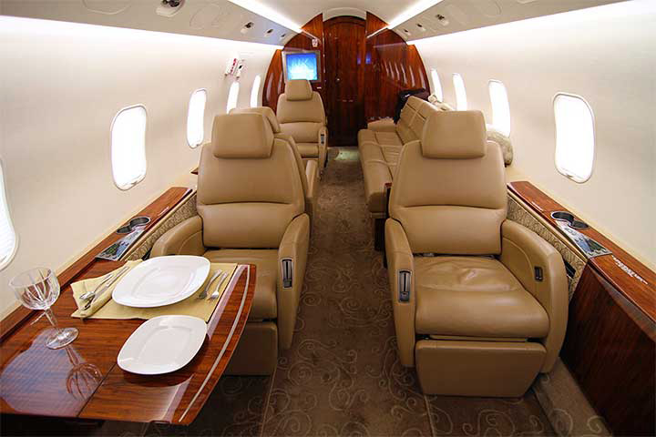 Private Super Mid Size Jet Challenger 300 Interior