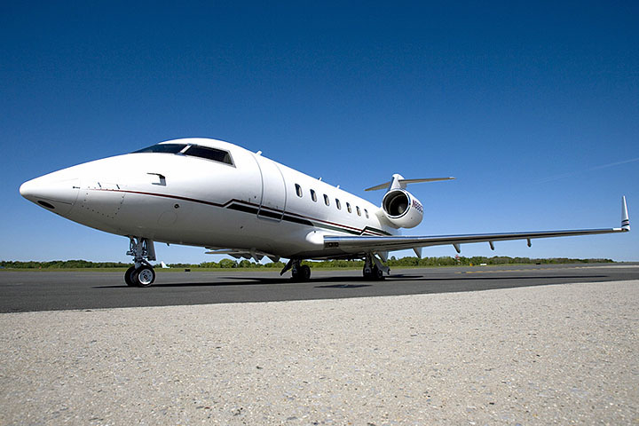 Private Charter Heavy Jet Challenger 601