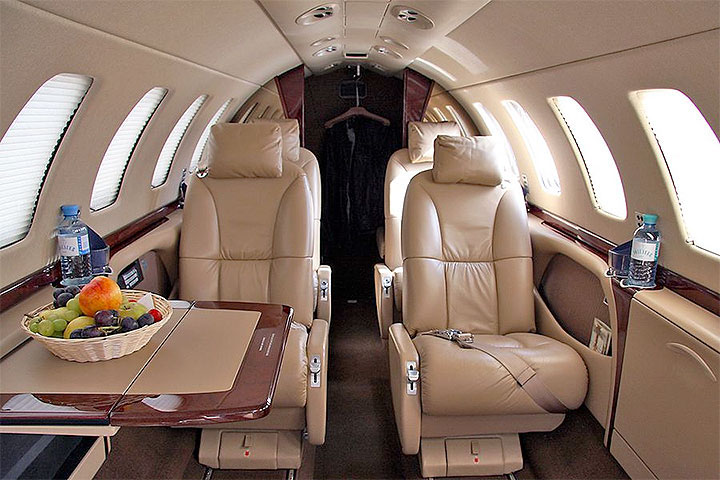 Private Light Jet Citation M2 Interior