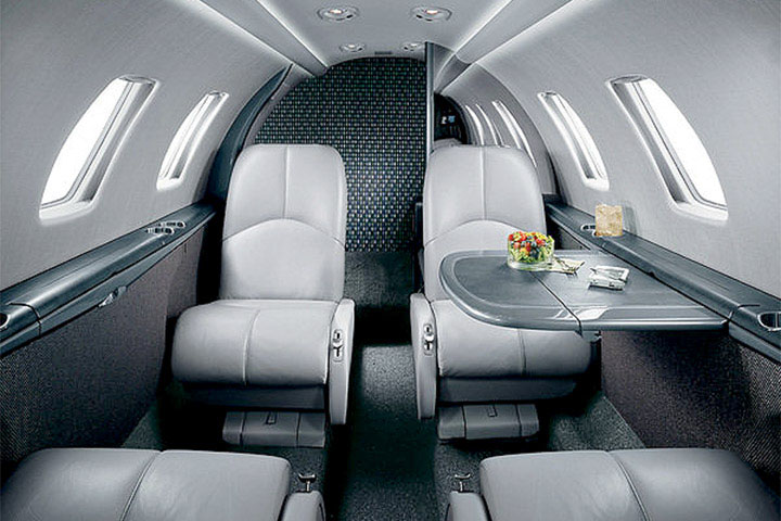 Private Light Jet Citation CJ1 Interior