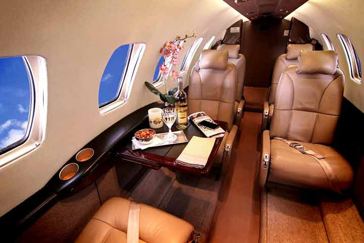 Private Light Jet Citation CJ2 Interior