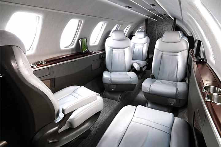 Private Light Jet Citation CJ4 Interior