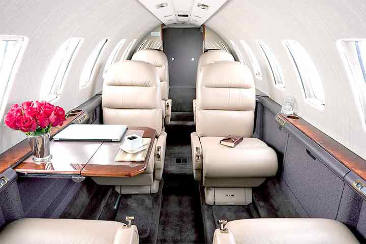 Private Light Jet Interior