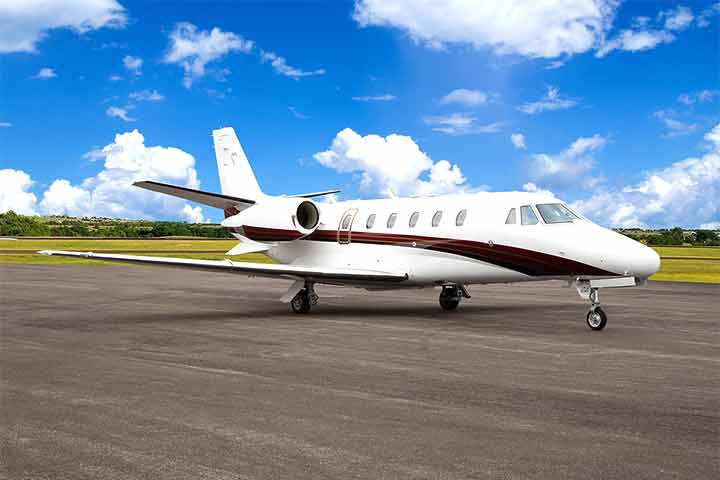 Private Charter Mid Size Jet Citation Excel