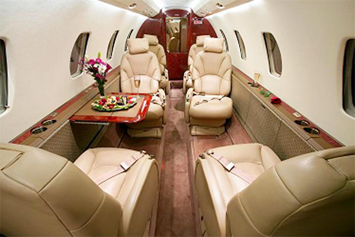 Private Mid Size Jet Citation Excel Interior