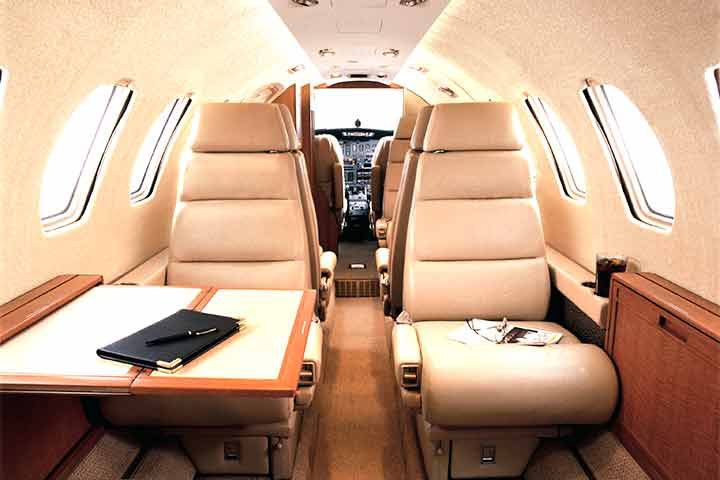 Private Light Jet Citation II/SP Interior