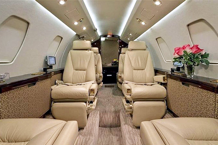 Private Mid Size Jet Citation III Interior