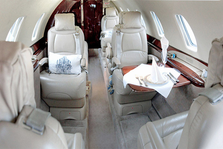 Private Super Mid Size Jet Citation Sovereign Interior