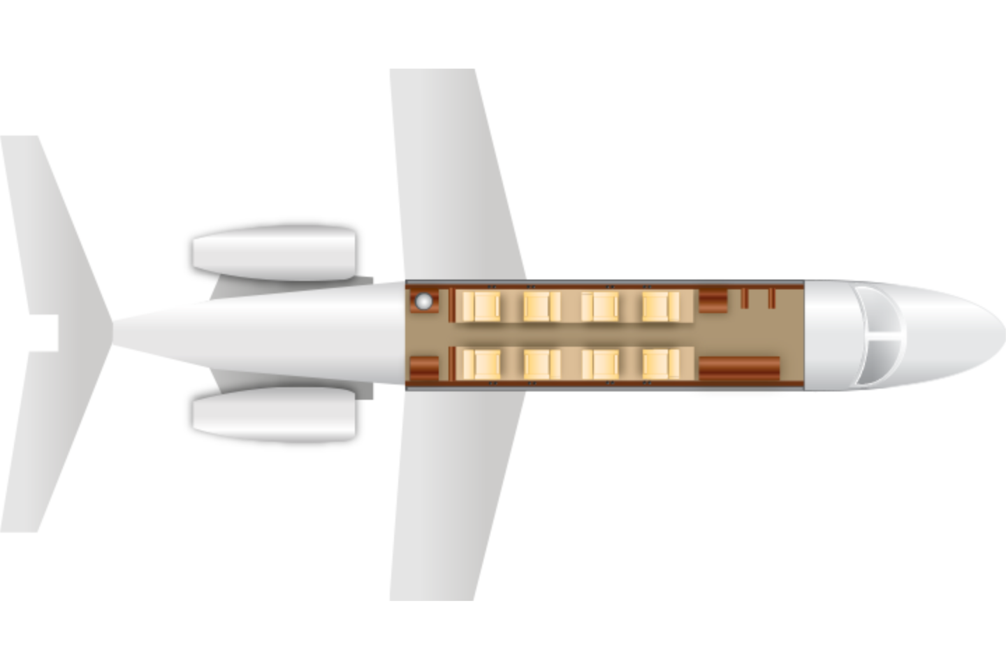 Private Super Mid Size Jet Citation Sovereign Floor Plan