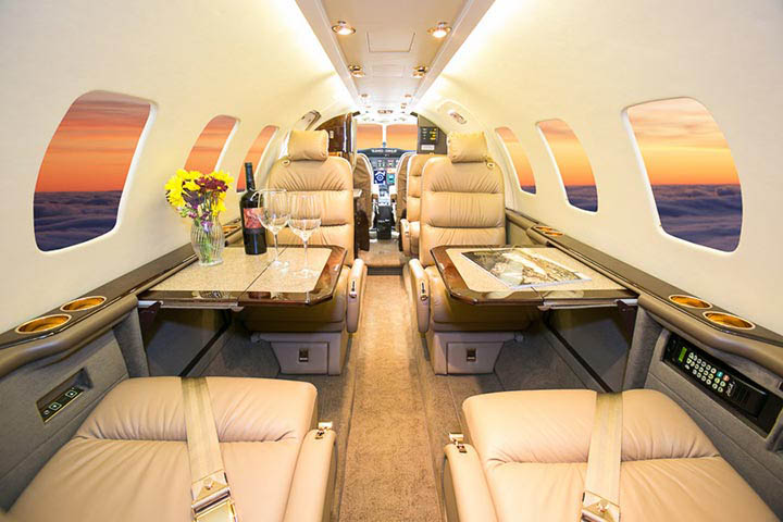 Private Light Jet Citation Ultra Interior