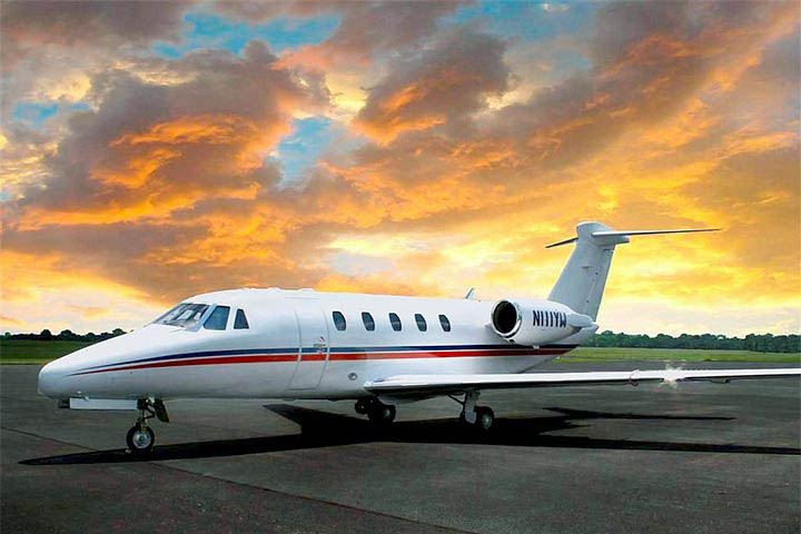 Private Charter Mid Size Jet Citation VI