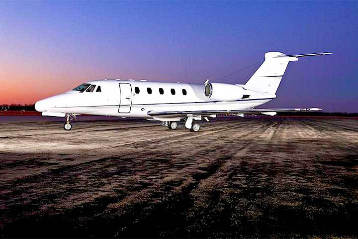 Private Charter Mid Size Jet Citation VII