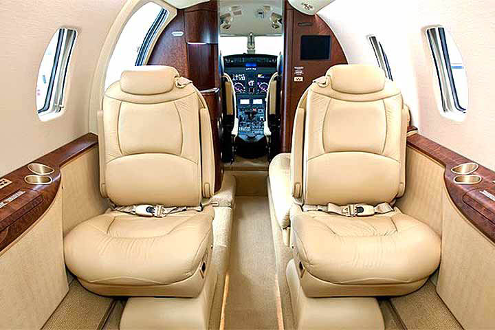 Private Mid Size Jet Citation XLS Interior