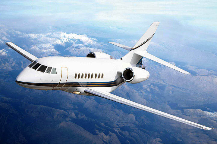Private Charter Super Mid Size Jet Falcon 2000