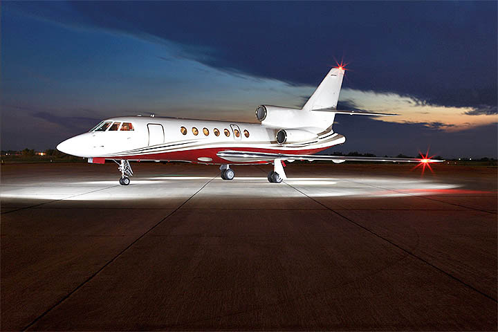 Private Super Mid Size Jet Falcon 50 Exterior