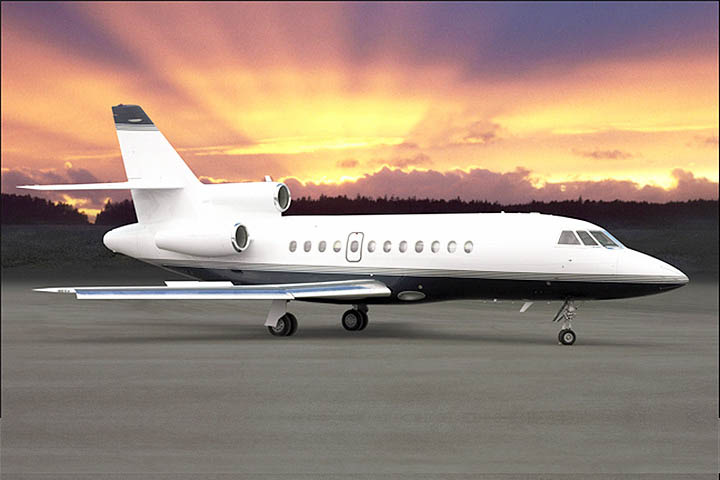 Private Heavy Jet Falcon 900 Exterior