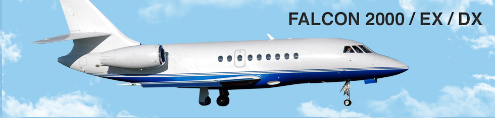 Falcon 2000 / EX / DX for charter