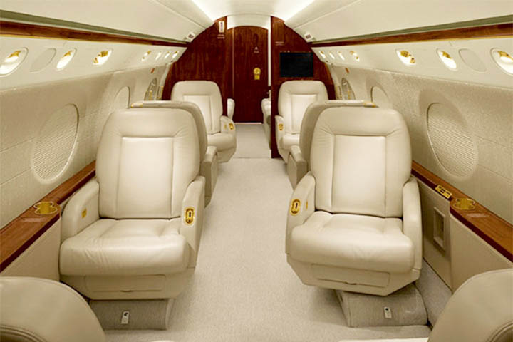 Private Heavy Jet (Long Range) Gulfstream 550 Interior