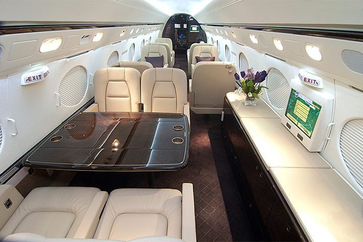 Private Heavy Jet (Long Range) Gulfstream V/VSP Interior