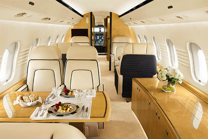 Private Heavy Jet Interior