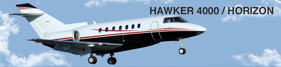 Hawker 4000 / Horizon for charter