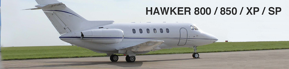Hawker 800 / 850 / XP / SP for charter