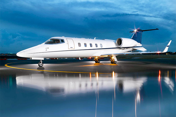 Private Charter Mid Size Jet Lear 60/XR