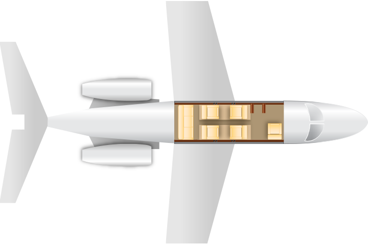 Private Light Jet Lear 35 Floor Plan