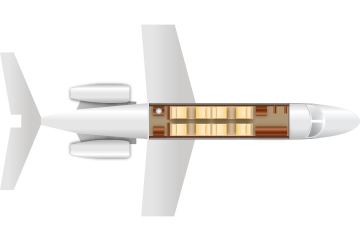 learjet-45-transparent-1412620788.png Floor Plan View
