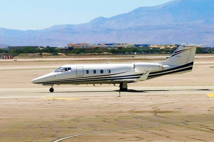 Private Mid Size Jet Lear 55 Exterior