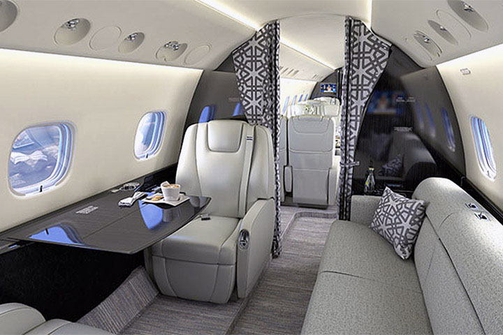 Private Heavy Jet Legacy 600 Interior