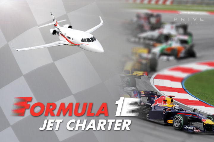 Charter a Private Jet to Formula1