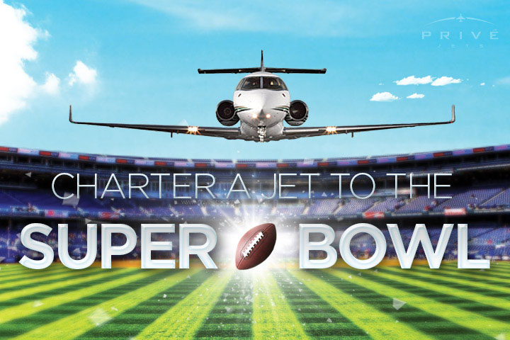 Charter a Private Jet to Super Bowl 50
