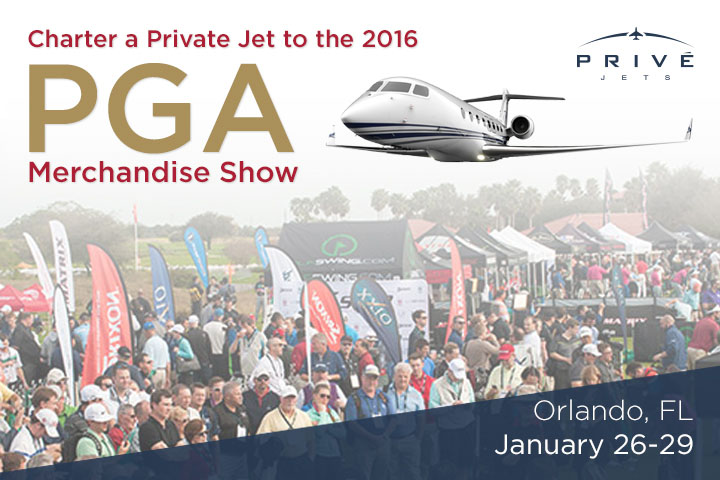 Charter a Private Jet to the PGA Merchandise Show
