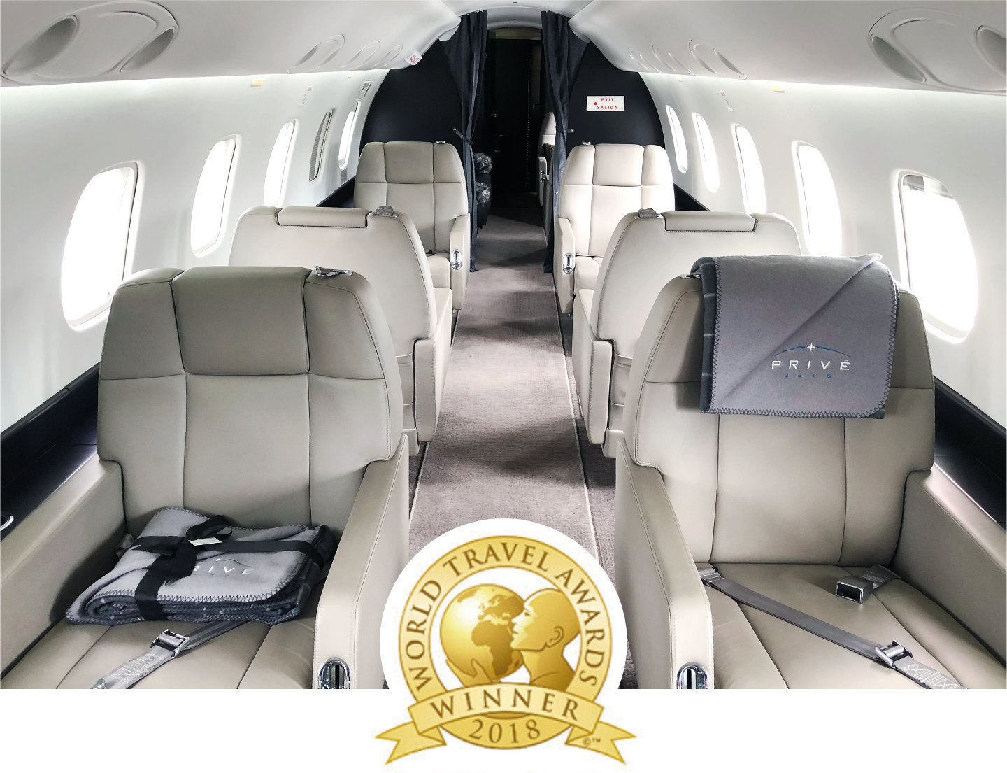 "Privé Jets Awarded as 2018 ""North America's Leading Private Jet Charter"""