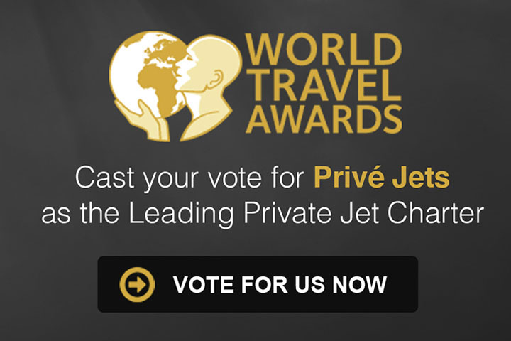 Privé Jets Nominated in the 22nd Annual World Travel Awards